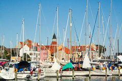 The port of Faaborg in Denmark Stock Photo