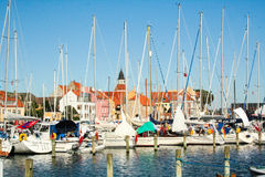 The port of Faaborg in Denmark Stock Image