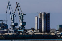 Port facilities Royalty Free Stock Photo
