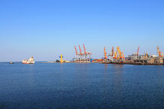Port facilities in Odessa. On the Black Sea Royalty Free Stock Photography