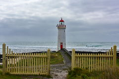 Port Fairy LIghthouse on Griffiths Island Stock Image