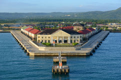 Port of Falmouth, Jamaica. Cruise Port at Falmouth, Jamaica. This port is built by Royal Caribbean Cruise company in 2012 stock photo
