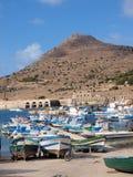 Port of Favignana, Sicily, Italy Royalty Free Stock Photos