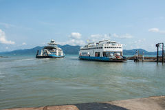 Port ferry boat in Koh Chang Island, Trat, Thailand. Koh chang Stock Images