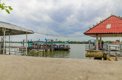 Port of ferry. In Thailand royalty free stock photo