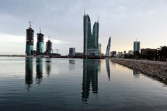Port financier du Bahrain Images libres de droits