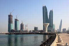 Port financier du Bahrain à Manama Photographie stock libre de droits
