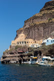 Port of Fira, Santorini, Thira,  Cyclades Islands. Greece Royalty Free Stock Photo
