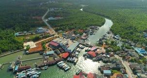 Port of fishermen. Aerial footage Port of fishermen stock footage