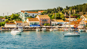 Port Fiskardo on Kefalonia island, Greece. Stock Photography