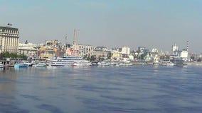 Port fluvial de Kiev, clips vidéos