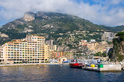 Port of Fontvieille. Monaco Stock Photo