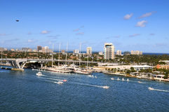 Port of Fort Lauderdale. During sunny day Royalty Free Stock Photography