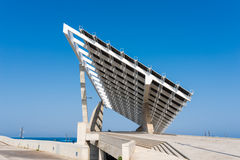 Solar Power Plant in Port Forum Barcelona Stock Photography