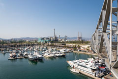 Port Forum in the north of Barcelona Stock Photography