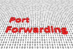 Port forwarding. In the form of binary code, 3D illustration Stock Images