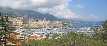 Port français au Monaco Photographie stock libre de droits