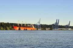 A Port on Fraser River Royalty Free Stock Images