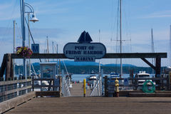 Port of Friday Harbor Sign Stock Photo