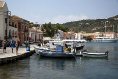 Port of Gaios (Paxos, Greece) Stock Images