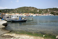Port of Gaios (Paxos, Greece) Royalty Free Stock Photos