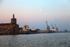 Port in Gdansk Royalty Free Stock Images