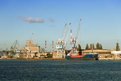 Port in Gdansk Royalty Free Stock Image
