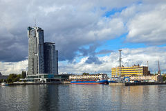 Port in Gdynia, Poland. Royalty Free Stock Photography