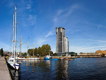 Port in Gdynia, Poland. Panoramic view of the port in Gdynia, Poland Stock Images