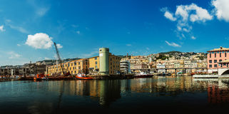 Port in Genoa is the capital of Liguria Stock Images