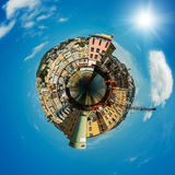 Port in Genoa is the capital of Liguria Stock Photo