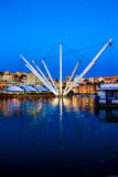 The port of genoa at dusk, Italy Royalty Free Stock Images