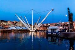 The port of genoa at dusk, Italy Stock Photography