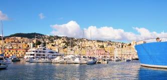 The port of Genoa Stock Photos