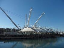 Port of Genoa, Italy. Architecture alone waterfront of Genoa, Italy on sunny day Stock Image
