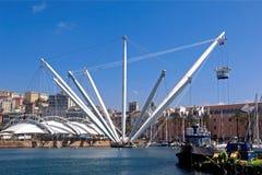 Port of Genoa, Italy. View of the Port of Genoa, Italy Stock Photo