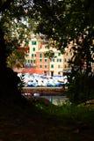 Port of Genoa Nervi from  the Promenade. Stock Photos