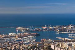 Port of Genoa, panorama Stock Image