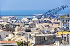 Port of Genoa, panorama Stock Image