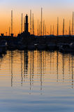 Port of Genoa at sunset Royalty Free Stock Photo
