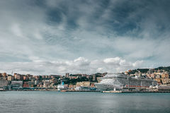 Port in Genova city, Liguria , Italy Royalty Free Stock Photos