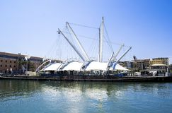 Port of Genova in Italy stock photography