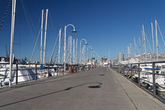 Port of Genova with promenade Royalty Free Stock Photo