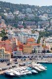 Port gentil à la mer Méditerranée images libres de droits