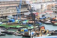 Port Genua, Włochy fotografia stock
