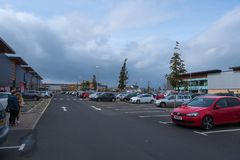 Port Glasgow Retail Park in Inverclyde Scotland. stock image