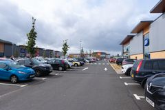 Port Glasgow Retail Park in Inverclyde Scotland. stock photography