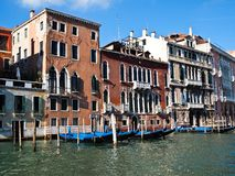 Port of Gondola boats , Venice Italy Stock Photo