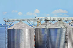 Port grain dryer Stock Photo