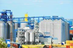 Port grain dryer Royalty Free Stock Photo
